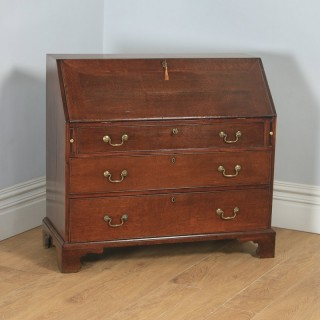 Antique English 18th Century Georgian Oak Bureau Writing Desk (Circa 1780)