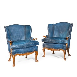 Mahogany Wing Armchairs Attributed To Whytock And Reid Edinburgh
