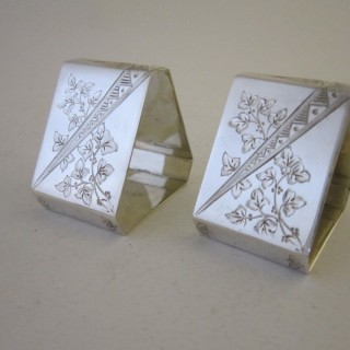 Antique Victorian Sterling silver napkin rings