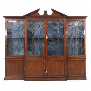 A Fine George III Library Breakfront Bookcase