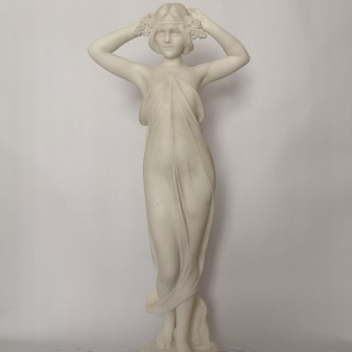 19th Century Italian Marble Sculpture Of A Nymph By C Pittaluga