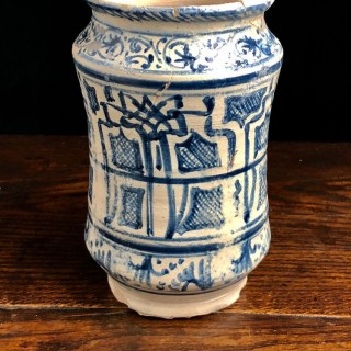 Antique Blue And White Jar, 16th Century