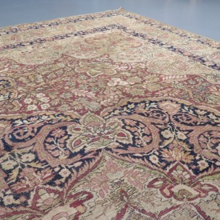 Large 19th century Laver Kirman carpet