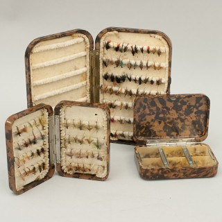 Vintage Hardy Neroda Fly Fishing Trout Fly Box In Baklite