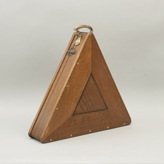 Antique Snooker Balls In Oak Snooker Ball Case With Triangle.