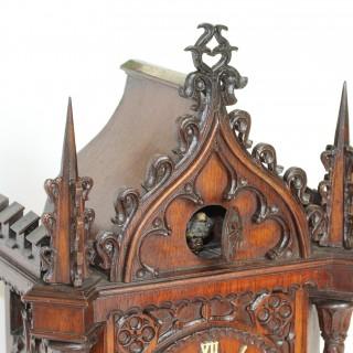 1860s Beha Cuckoo Clock, Black Forest