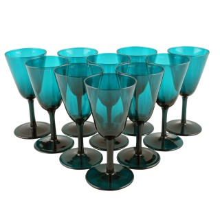 Set of Ten Wine Glasses