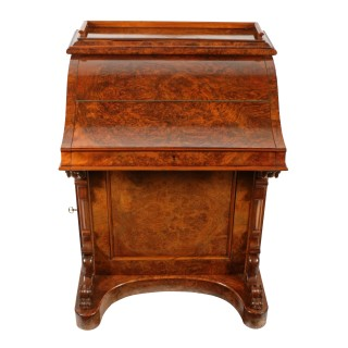 Victorian Walnut Piano Top Davenport