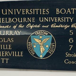 Vintage Rowing Trophy Blade 1954 Australian University Regatta