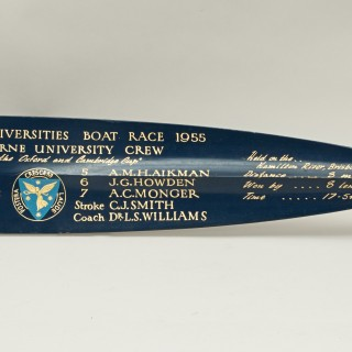 Vintage Rowing Trophy Blade 1955 Australian University Regatta