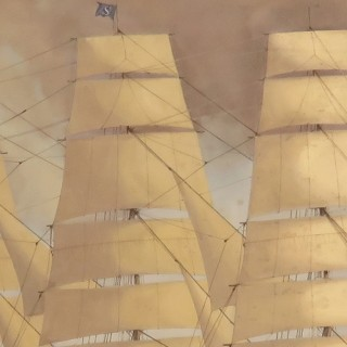 Mid-20th Century Marine Oil on Canvas