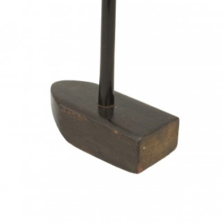 Antique Golf Club, Large Wood Head Croquet Type Putter