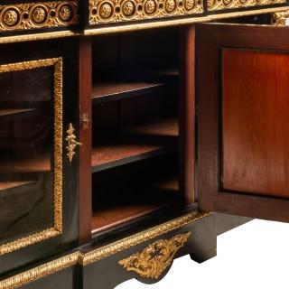 French 19th Century Pietra Dura Inlaid Cabinet, circa 1880