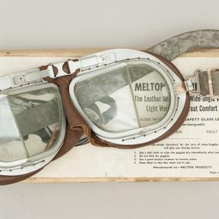 Motorcycle, Motoring Goggles Melton Mk. Viii Goggles In Original Cardboard Box, No. 21133