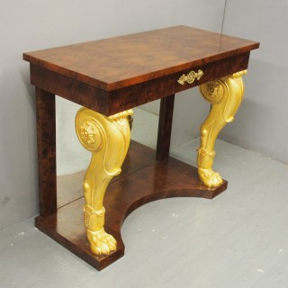 Regency Style Giltwood and Burr Console Table