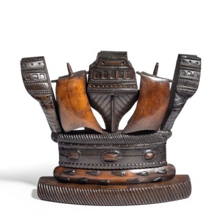 A 19th Century Naval Crown Constructed From Timber And Copper Recovered From H.M.S. Victory