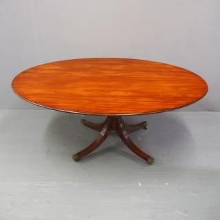 Mahogany Oval Snap Top Breakfast Table