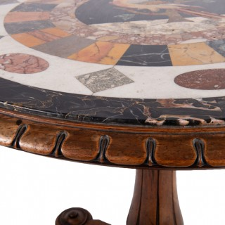 19th Century Specimen Mable Top Table, by J. Darmanin and Sons