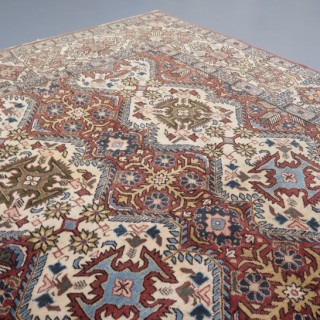 Decorative c.1930 Qum carpet