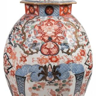 19th Century Japanese Lidded Imari Vase