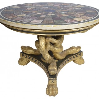 Large Regency period Specimen marble table center table, circa 1820
