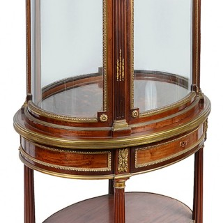 French 19th Century Free Standing Vitrine/ Display Cabinet,  by Edwards and Roberts