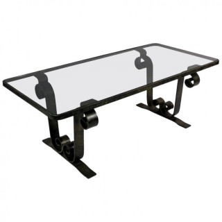 WROUGHT IRON OCCASIONAL TABLE