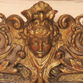 19th Century Venetian Carved and Gilt Wood Hanging Wall Mirror