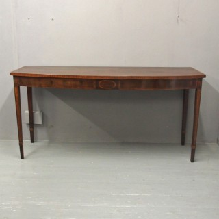 George III Mahogany Bow Front Serving Table