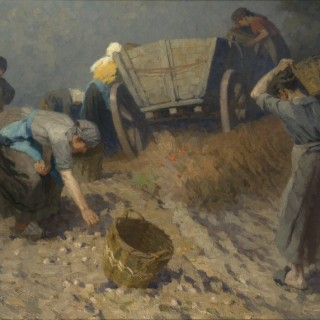 Potato pickers by Martin Frost (1875 - 1928)