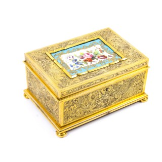Antique Ormolu Sevres Jewel Casket Exhibited at The Great Exhibition 1851 19th C
