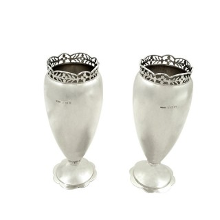 Pair of Antique Sterling Silver 7