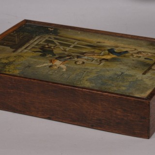 Antique Victorian Paper and Wooden Cubed Jigsaw