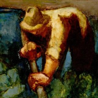 Man with a spade
