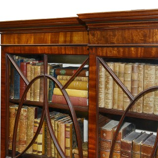Regency period Mahogany Library bookcase, circa 1820.