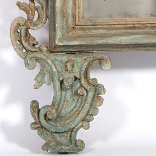 18th Century Turquoise Mirror
