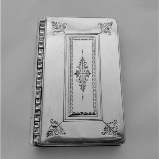 Good quality George I silver book shaped snuff box C1720 by WL