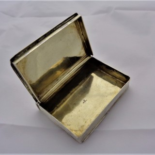 Very nice quality George I book shaped silver snuff box C1720 by DH