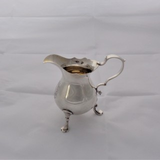 Quality armorial George II silver cream jug London 1736 David Willaume