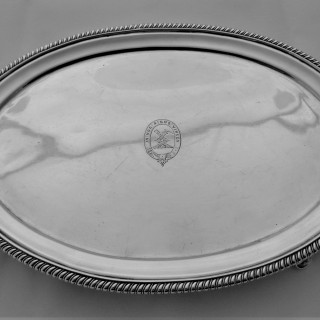 Nice quality George III oval salver London 1897 Duncan Urquart and Naphalthi Hart