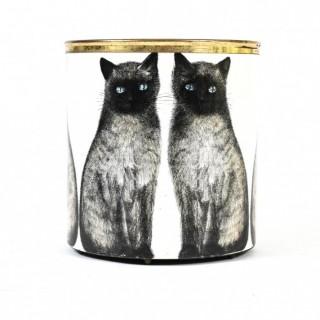 Piero Fornasetti Siamese cats wastepaper basket