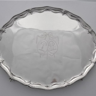 Super quality armorial George III oval salver London 1779 Richard Rugg