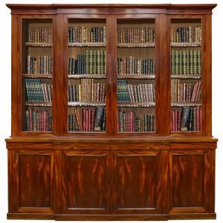 19th Century Mahogany library bookcase.