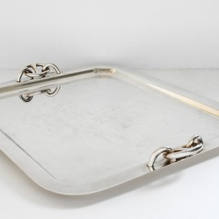 Silver plated tray by Hermès Paris