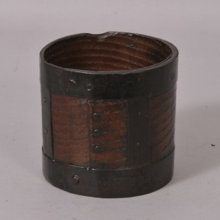Antique Treen 19th Century Ash Grain Measure