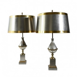 Pair of Maison Charles Mangue table lamps