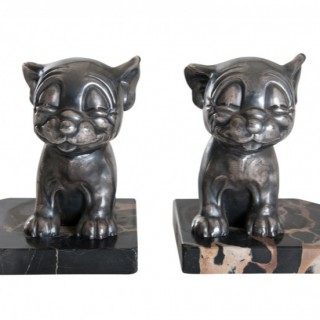 Pair of 1920's Bonzo Bookends