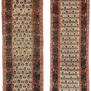 Rare Pair of antique Senneh runners