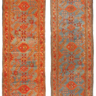 Collection of Six Antique Ushak runners