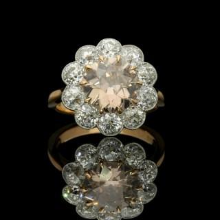 Hancocks Diamond and Fancy Pinkish Brown Diamond Cluster ring set in 18ct Rose Gold